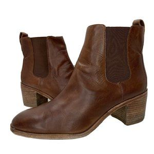 MADEWELL Frankie Brown Leather Chelsea Bootie 10